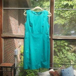 BCBG teal sleeveless dress